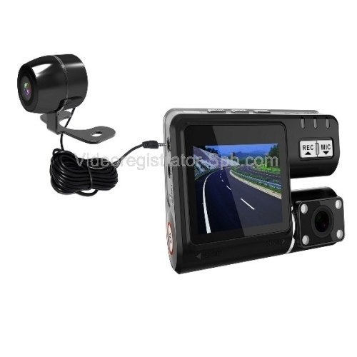 Видеорегистраторы с встроенными двумя камерами