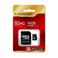 Карта памяти Silicon Power 16GB MicroSD Class 4