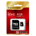 Карта памяти Silicon Power 8GB MicroSD Class 6