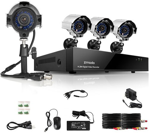 Комплект видеонаблюдения на 4 камеры Zmodo Базовый